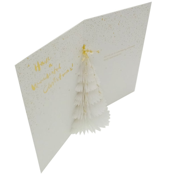 HONEY COMB GREETING CARD WHITE TREE