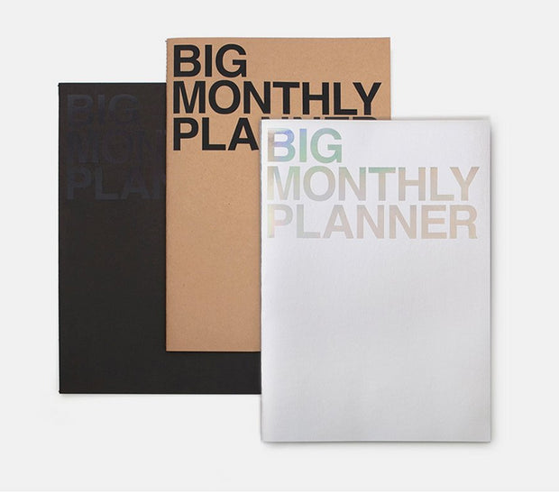 MONTHLY PLANNER BIG-BLACK