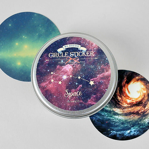 Circle Sticker Tin 11 Space
