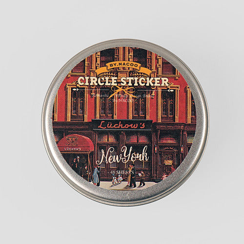 Circle Sticker Tin 12 NewYork