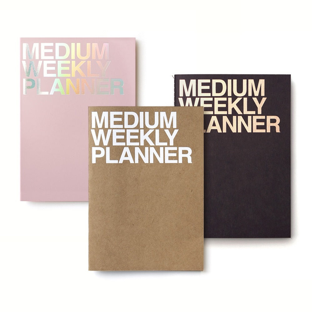 WEEKLY PLANNER MEDIUM-BLACK