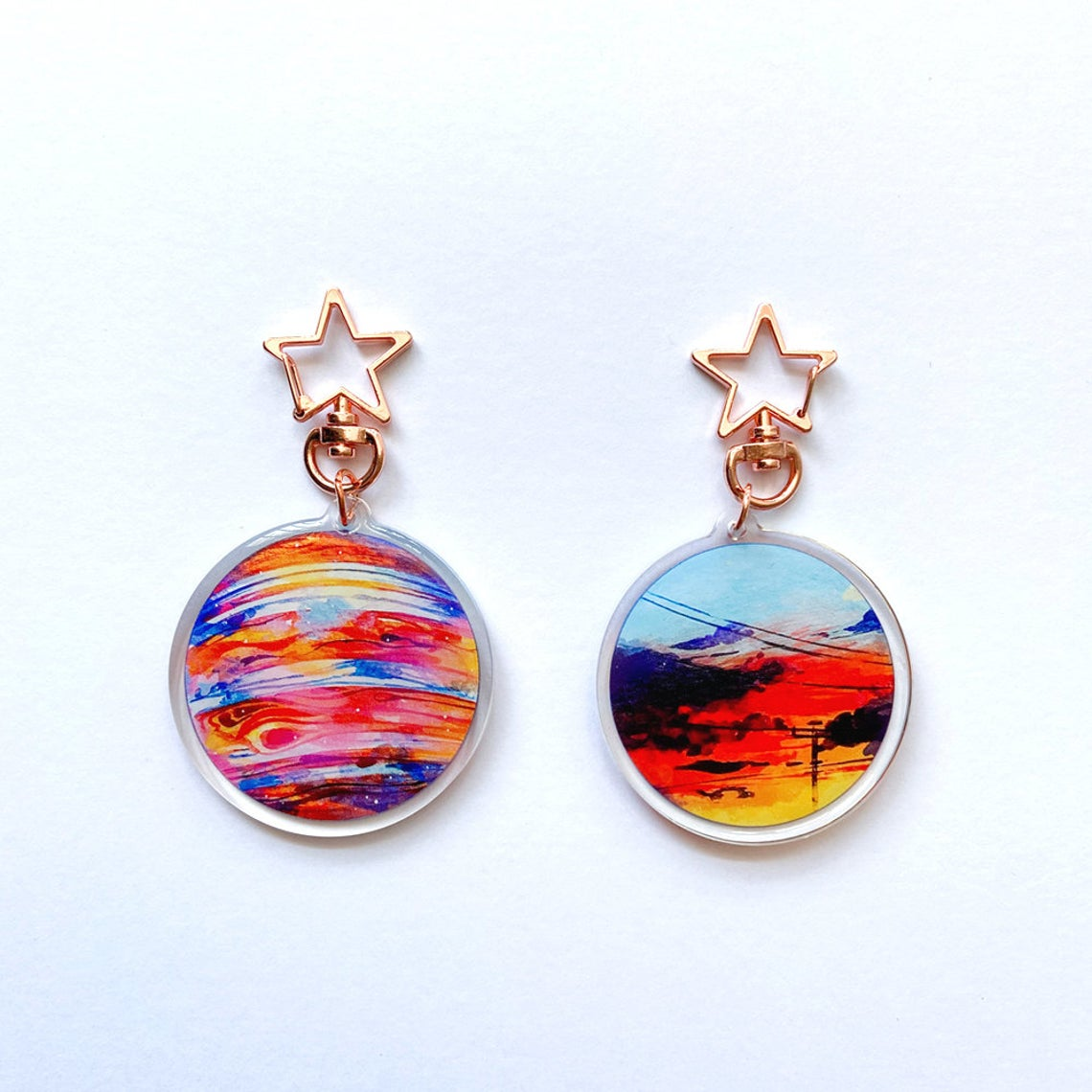 KAZEL LIM Watercolor Keychain - Jupiter Dusk