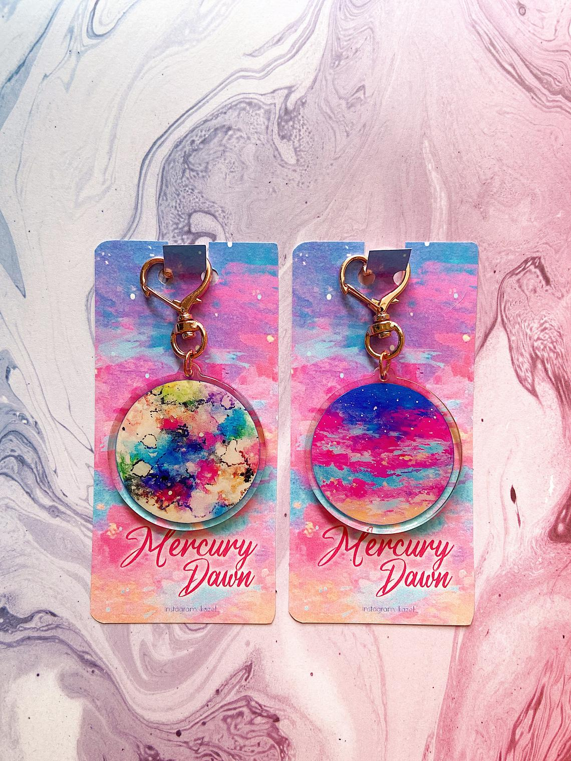 KAZEL LIM Watercolor Keychain - Mercury Dawn