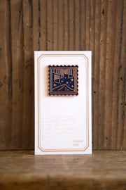 Central Post Stamp Badge - Small