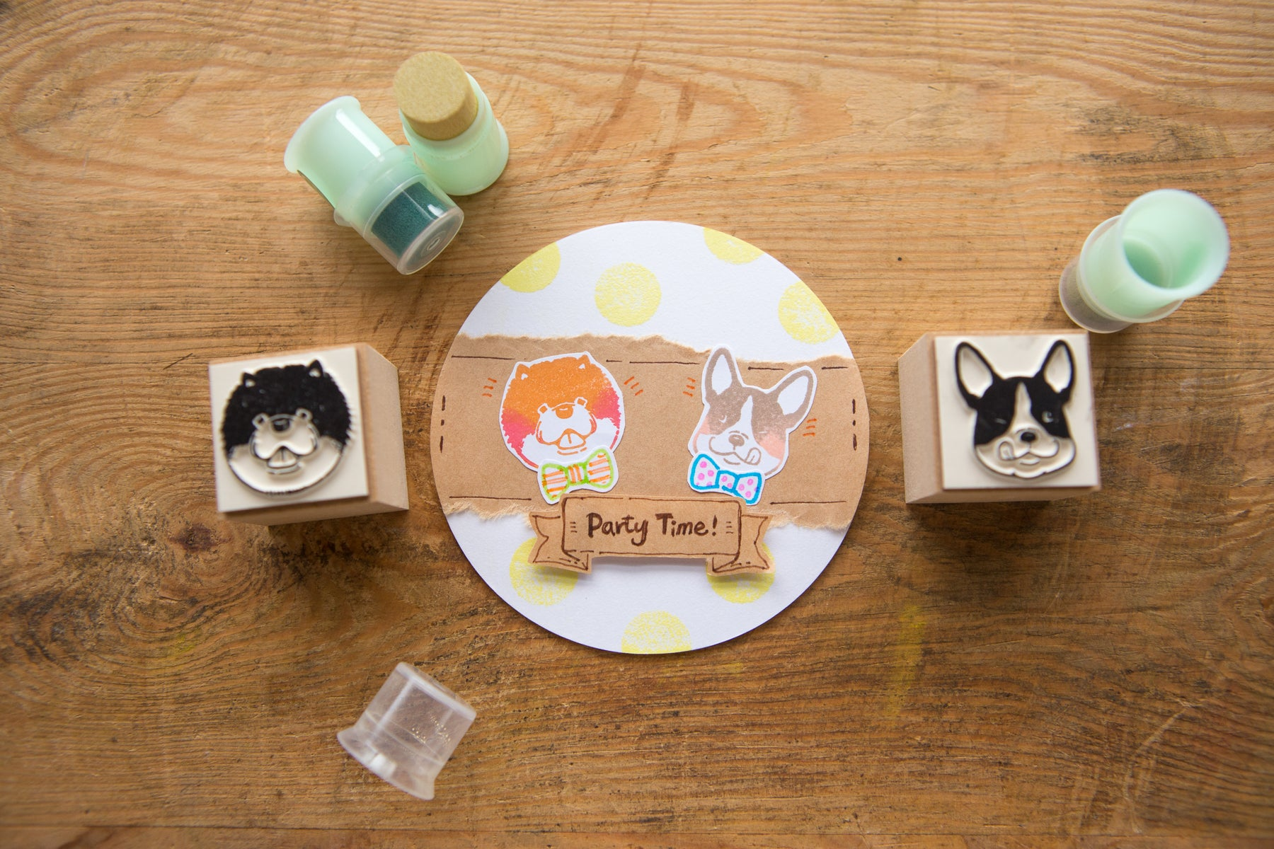Ours Dog Rubber Stamp Set/6pcs
