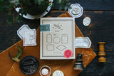 OURS Specimen DIY Rubber Stamp Set-7pcs