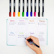 Brush Pen Fudensuke Hard Tip 10 Colours Set