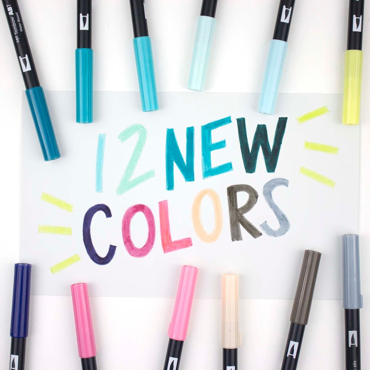 (NEW 2019 COLORS) TOMBOW ABT Dual Brush Pen