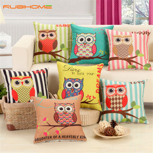 Lovely Owls Cushion Without Inner