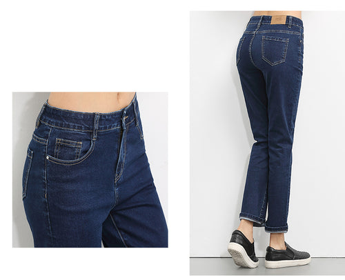 New arrival  6XL High Waist jeans for women High Elastic plus size denim washed