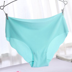 High Quality Plus Size Underwear Women Briefs Smooth Seamless Sexy Panties 7 Solid Color