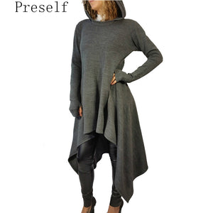 Hooded Dress Casual Wear  T Shirt Dresses Plus Size Autumn Winter