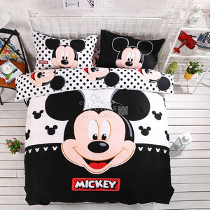 100% cotton adult kids Boys Disney mickey mouse 3d bedding set Queen King size comforter Cover set/bedroom sets