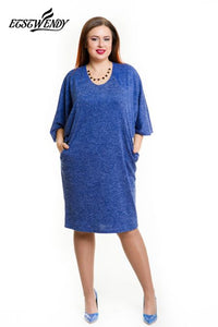 L-6XL Large Size   Elegant Summer Dress  Casual Loose