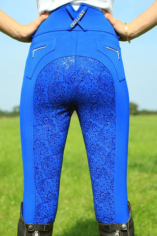 Chillout Horsewear Ltd Silicone Seat Breeches Royal Blue