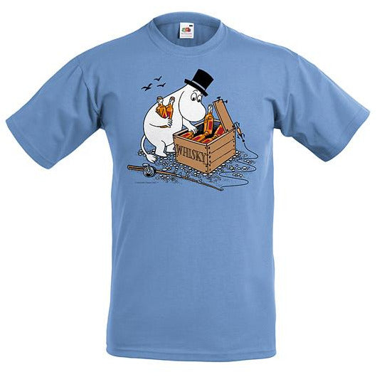 Moomin T-Shirt Moominpappa and whisky case