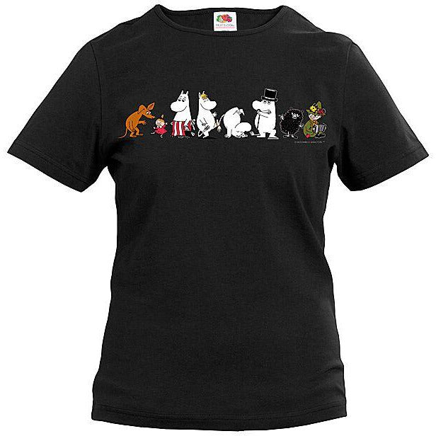 Moomin T-Shirt ladies Family Black - .