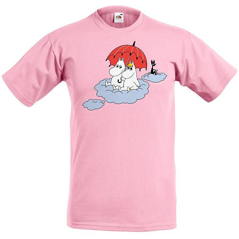 Moomin T-Shirt kids Moomin on the cloud Pink