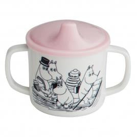Sippy Cup With Handles And Pink Lid - .
