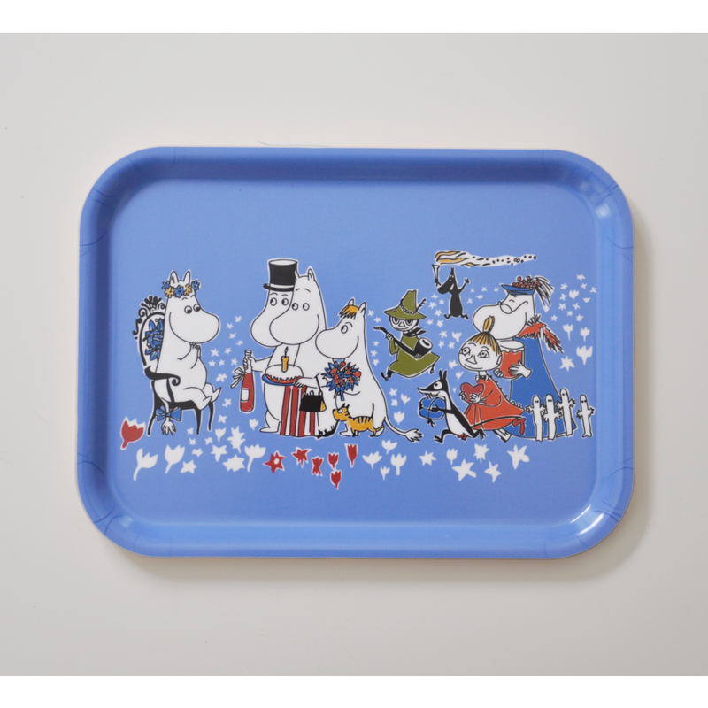 Moomin Tray Birthday Party Blue 27 x 20 cm