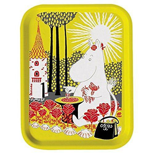 Moomin Tray Moominmamma Collecting Berries Yellow 27 x 20 cm - .