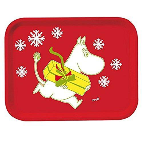 Moomin Tray Christmas Red 27 x 20 cm - .