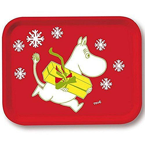 Moomin Tray Christmas Red 43 x 33 cm - .
