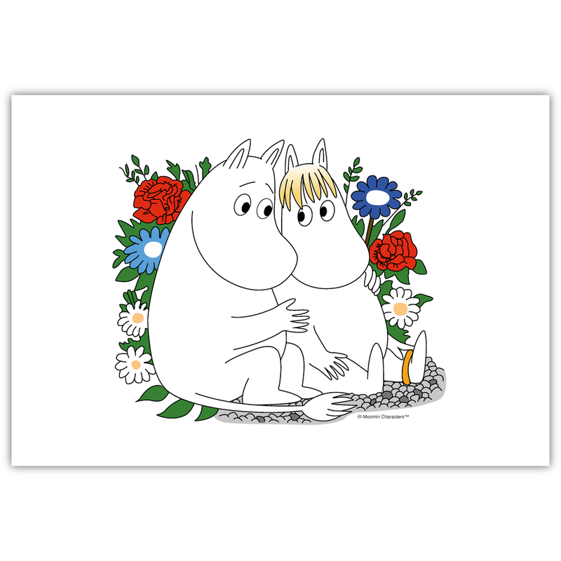 Moomin Placemat Moomin & Snorkmaiden Flower - .