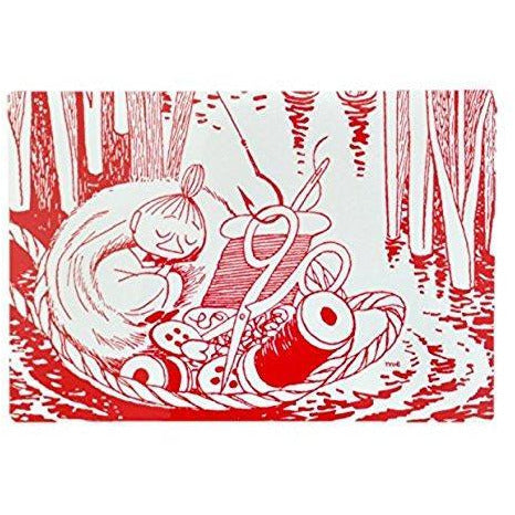 Moomin Placemat Little My Sleeping Red - .