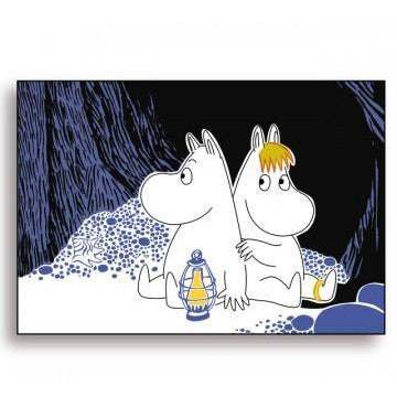 Moomin Placemat Cave Dark Blue - .