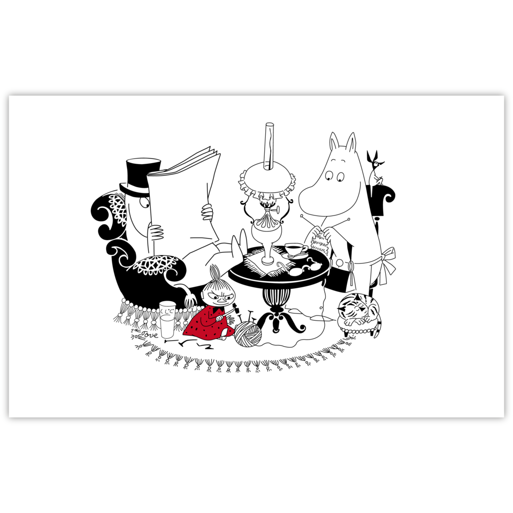 Moomin Placemat Pappa Reading - .