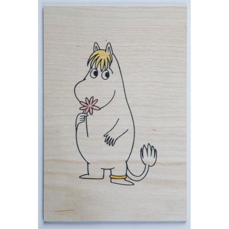 Plywood postcard Snorkmaiden