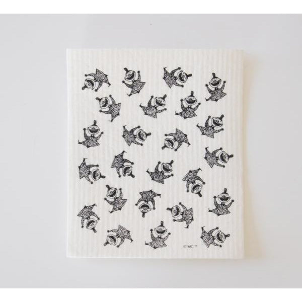 Dishcloth Happy Little My Black And White - .