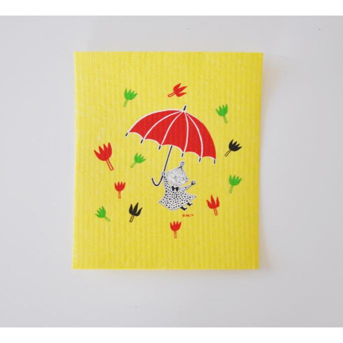 Dishcloth Little My Umbrella Yellow - .