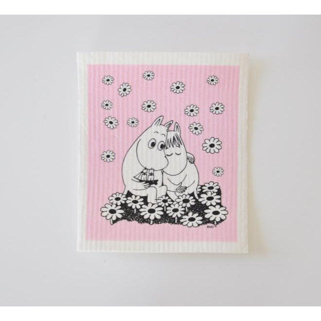 Dishcloth Moomintroll And Snorkmaiden Love Pink - .