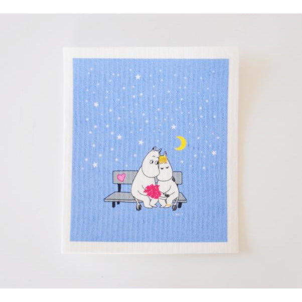 Dishcloth Moomintroll And Snorkmaiden Evening Love - .