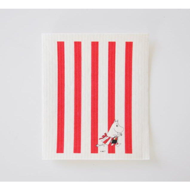 Dishcloth Moominmamma Red And White Striped - .