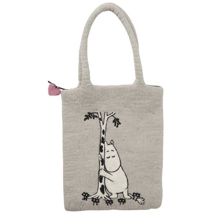 Moon Tree Hug Grey Bag
