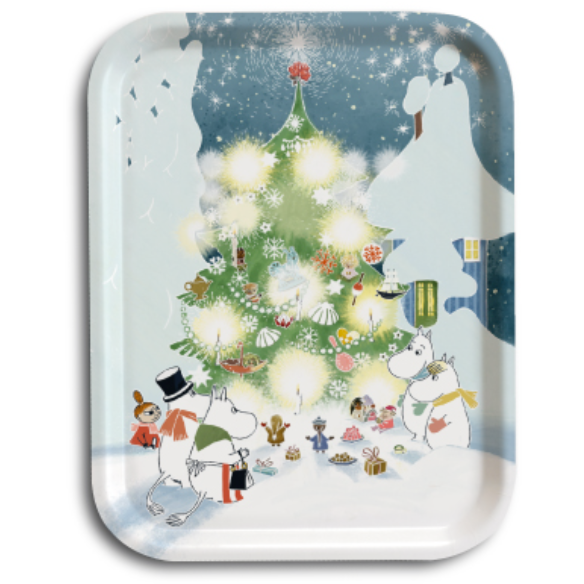 Moomin Tray  Christmas Comes To Moominvalley