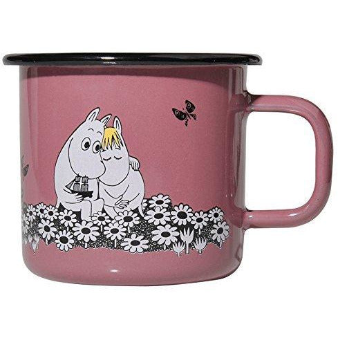 Moomin Enamel Mug Together Forever Pink 0,37 L - .