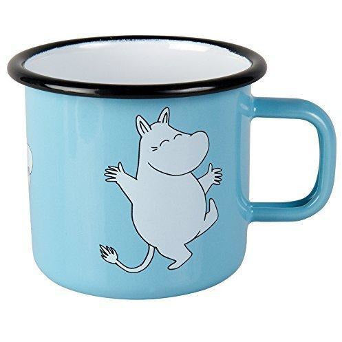 Moomin Enamel Mug Retro Moomintroll Light Blue 0,37 L - .