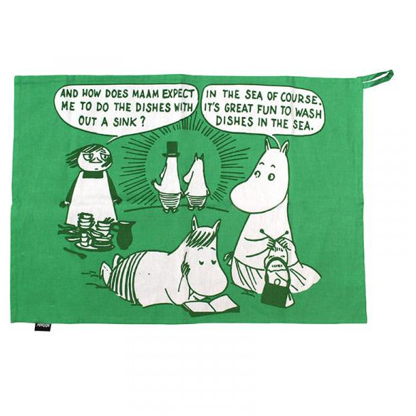 Moomin Tea Towel In A Tin - Dishes In The Sea - .