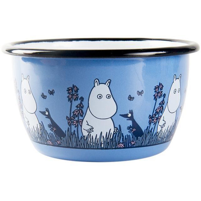 Moomin Enamel Bowl Friends Moomintroll Blue 0,3 L - .