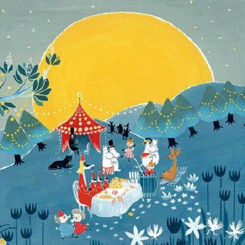 Greeting Card Moon Party - .