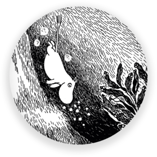 Moomin Fridge Magnet The Dive