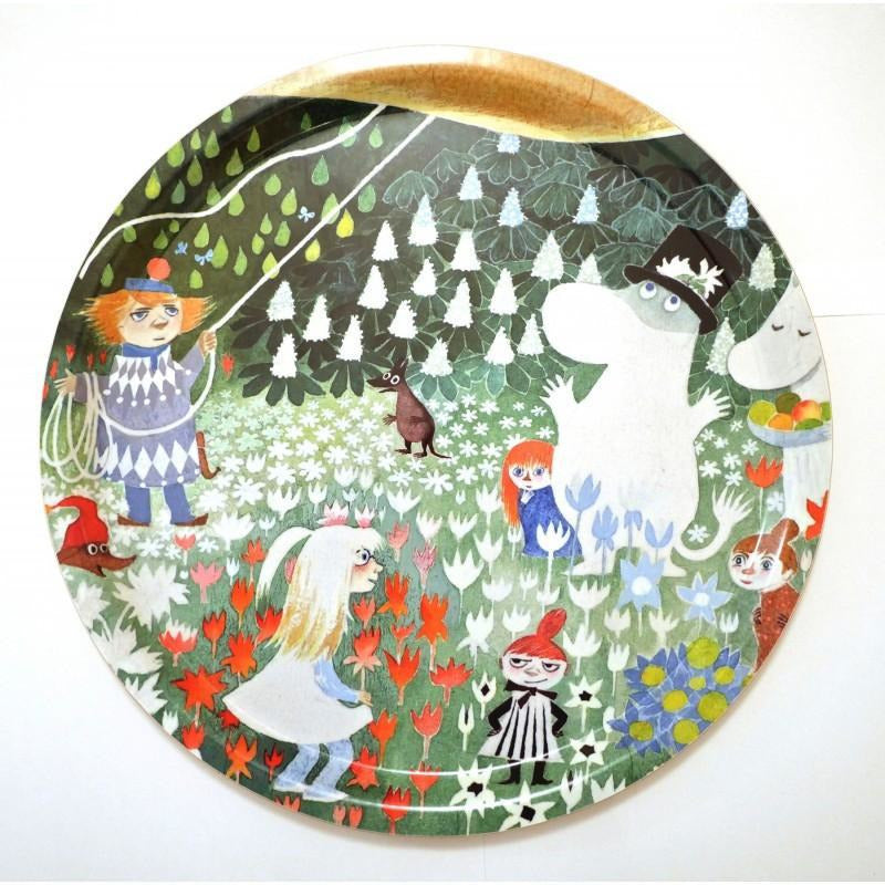 Moomin Tray Dangerous Journey Round 32 cm - .