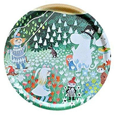 Moomin Tray Dangerous Journey Round 38 cm - .