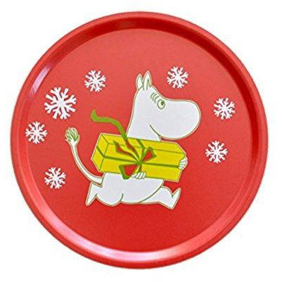 Moomin Tray Christmas Red Round 38 cm - .