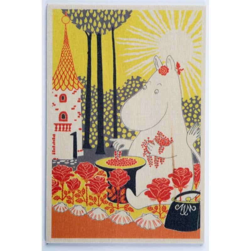 Plywood postcard Moominmamma collecting berries