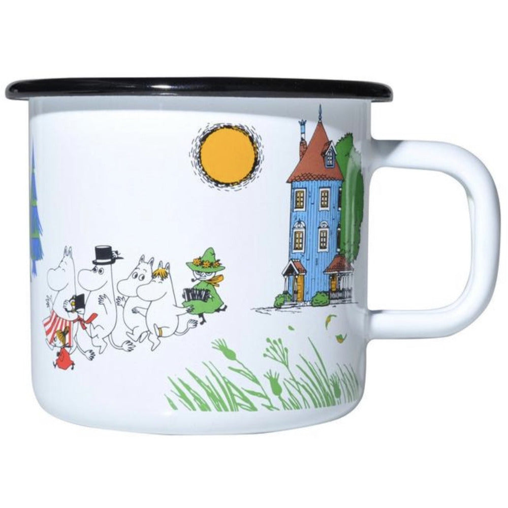 Moomin Enamel Mug 3.7 dl Colors Moomin Valley - .